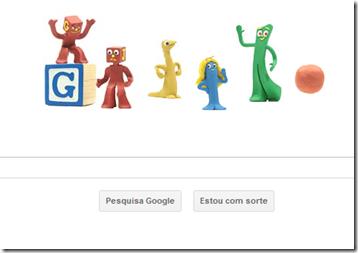 Art Clokey no Google no dia das crianças.