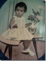 1965, aos dois anos.