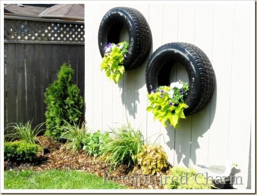 decoracao jardim chacara : decoracao jardim chacara:Tire Planter