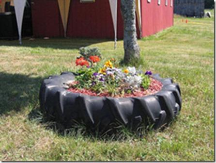 Pot para plantas de pneu usado