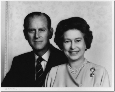 NPG P345; Prince Philip, Duke of Edinburgh; Queen Elizabeth II