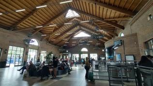 Interior da estação de Trem