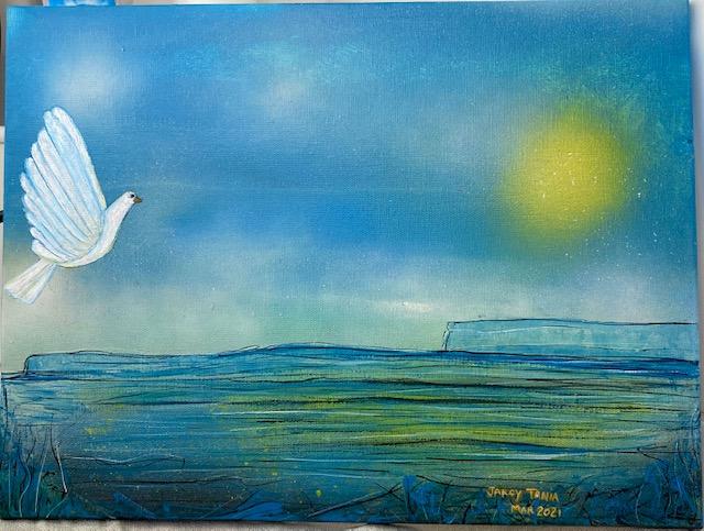 Acrilyc, canvas: Paloma. ©jarcytania